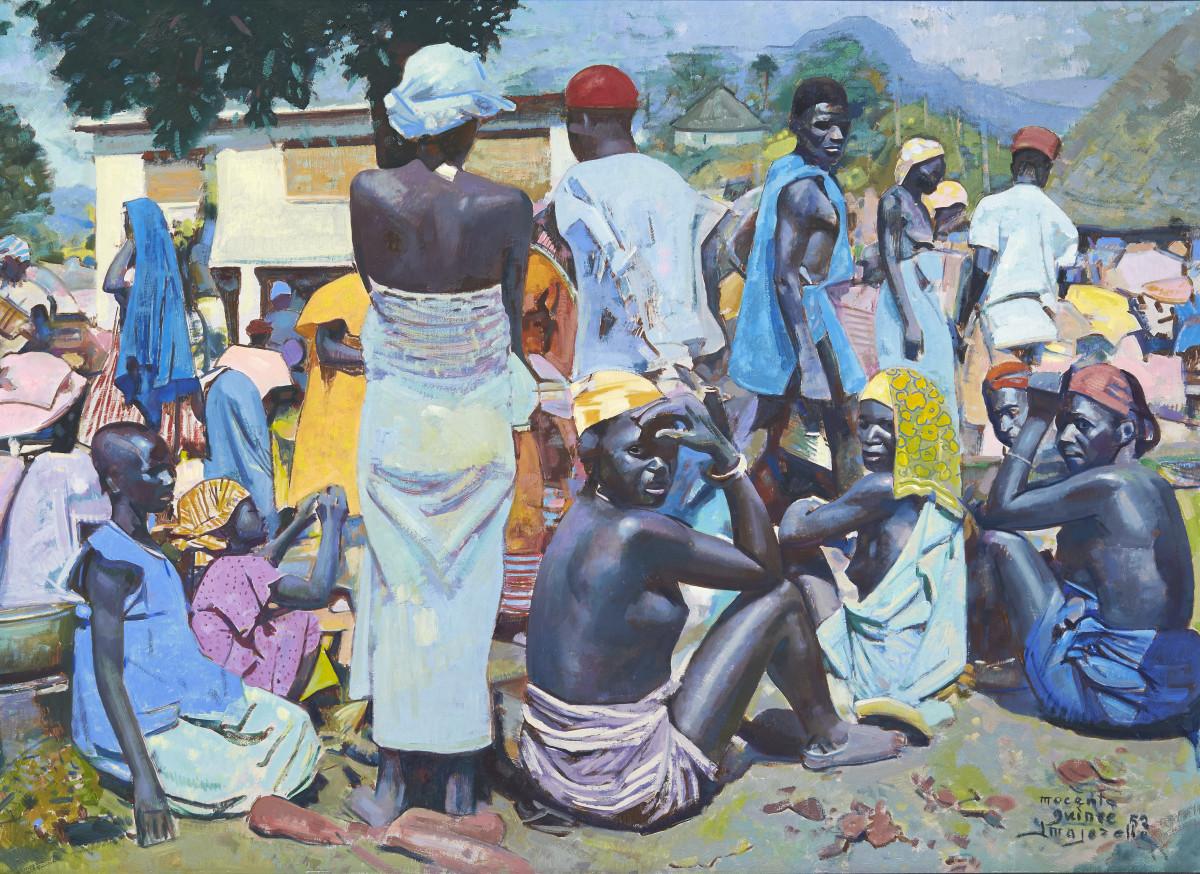 Jacques-Majorelle-Marché-à-Macenta-Guinéee-1952-e1437071734820