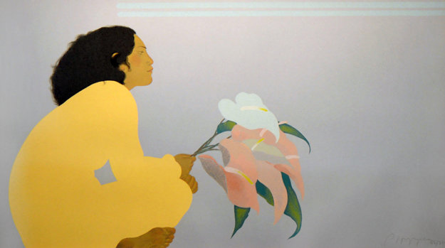 pegge_hopper_untitled_woman_with_anthuriums